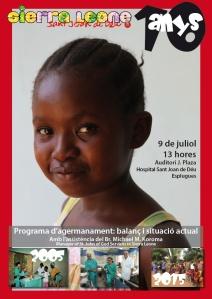 10 años del programa de Hemanamiento con Sierra Leone