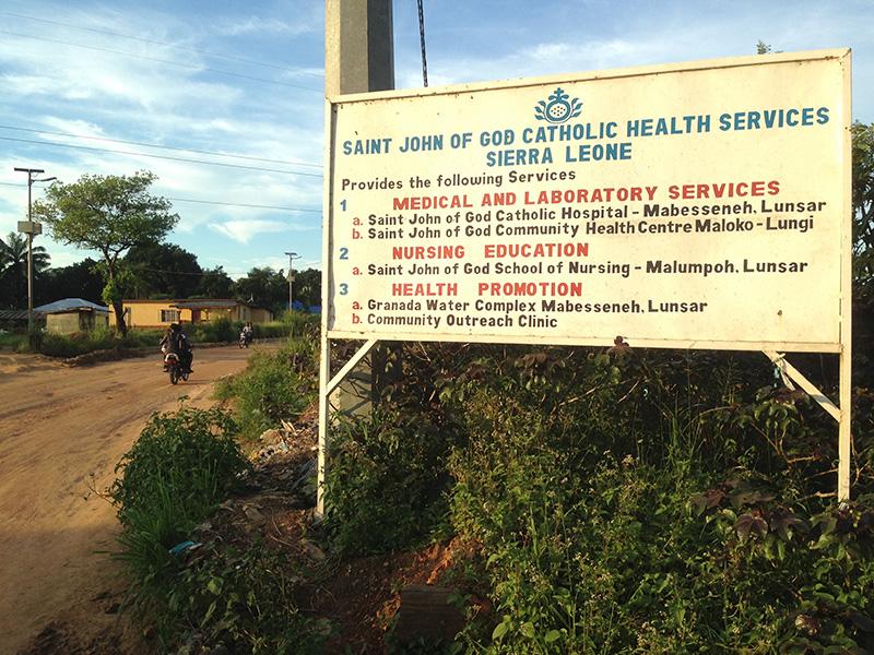 Cartel de todos los servicios asistenciales