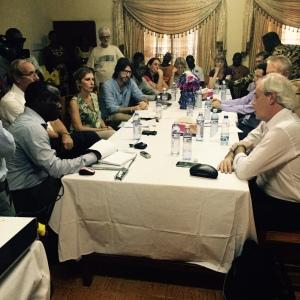 Visita de parlamentarios europeos al hospital de Mabesseneh