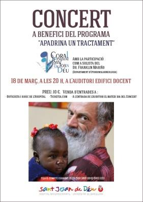18 de març: concert de la Coral de l'Hospital a benefici de l'Apadrina