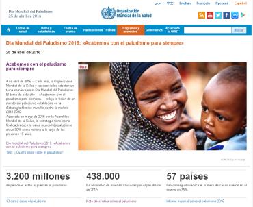 Día Mundial del Paludismo 2016