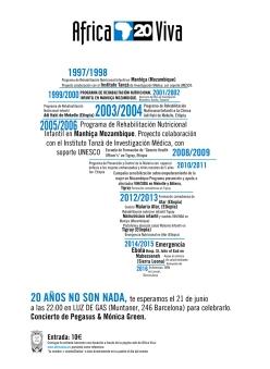 Conmemoración 20 años Africa Viva Fundación