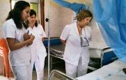 Visitando el hospital