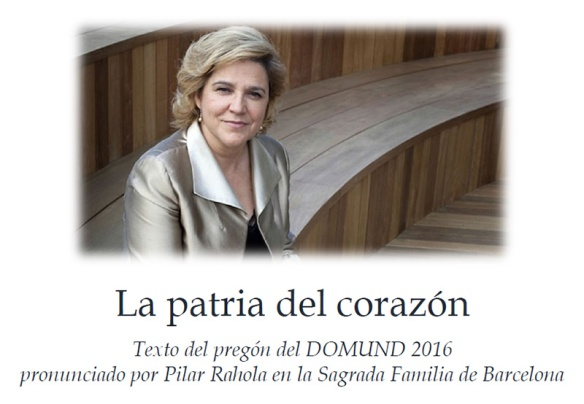 Pregón del Domund 2016 pronunciado por Pilar Rahola