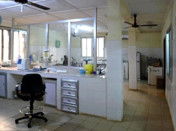 Laboratorio del Hospital de Mabesseneh