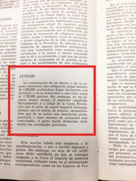 1972 Comentario I/N ajuste al presupuesto