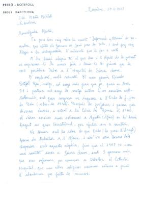 Carta de Carme Botifoll
