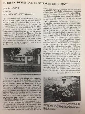 Información y noticias 1974
