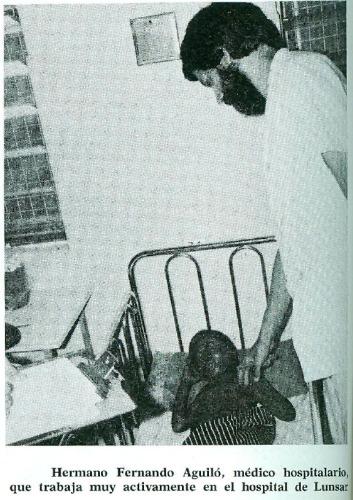 Hermano Fernando Aguiló, médico hospitalario, que trabaja muy activamente en el hospital de Lunsar