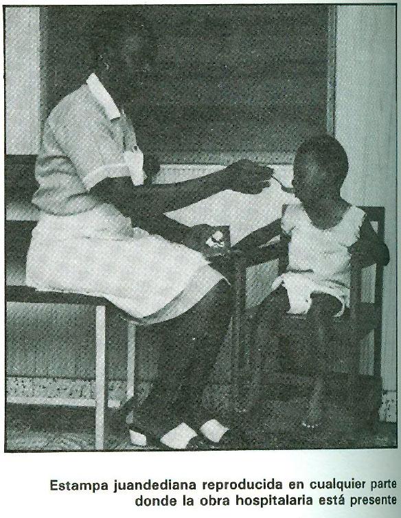 Estampa juandediana reproducida en cualquier parte donde la obra hospitalaria está presente.