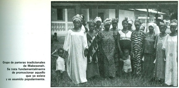 Grupo de parteras tradicionales de Mabesseneh.