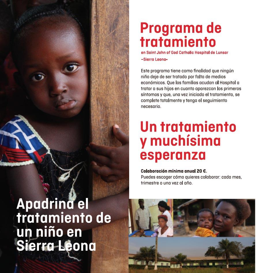 Apadrina el tratamiento de un niño en Sierra Leona