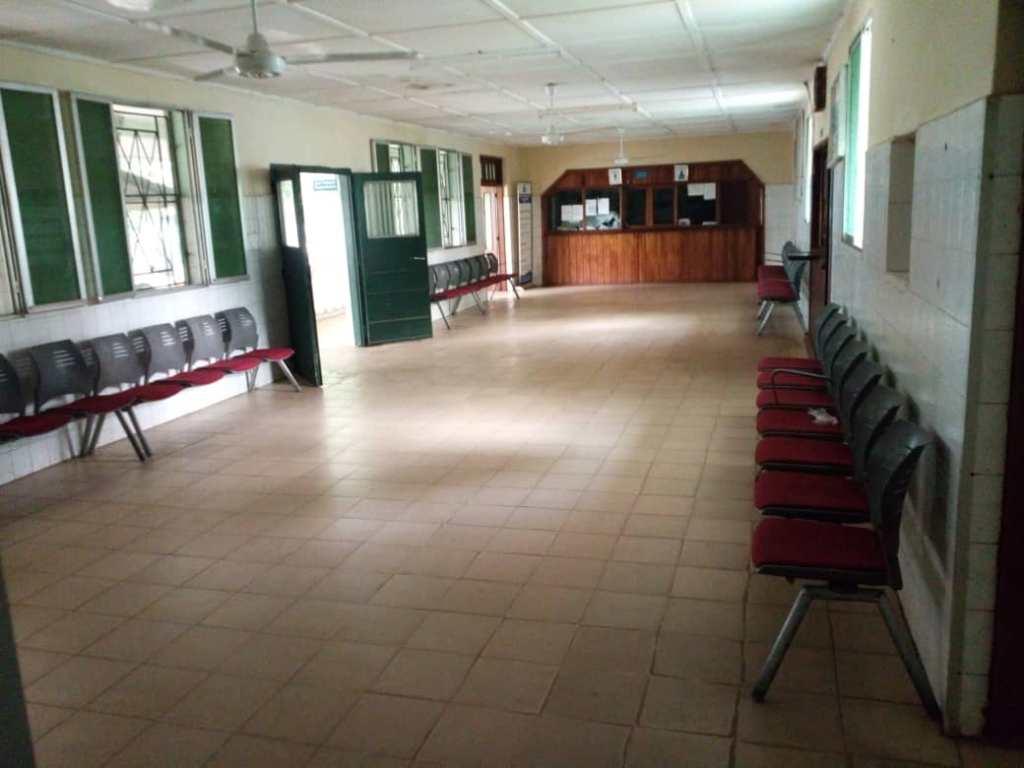 El hospital de Mabesseneh esta casi vacío