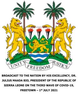 Carta del Presidente de Sierra Leone